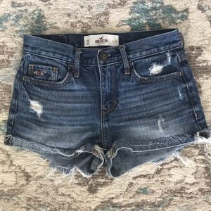 Hollister Denim Jean shorts high rise distressed
